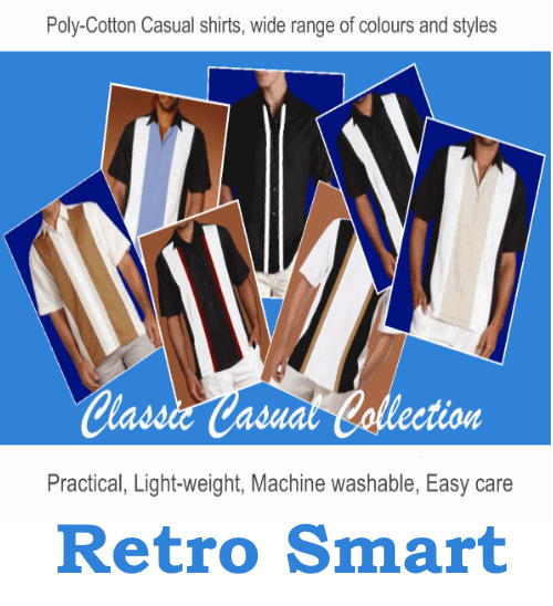 Casual retro smart mens shirts